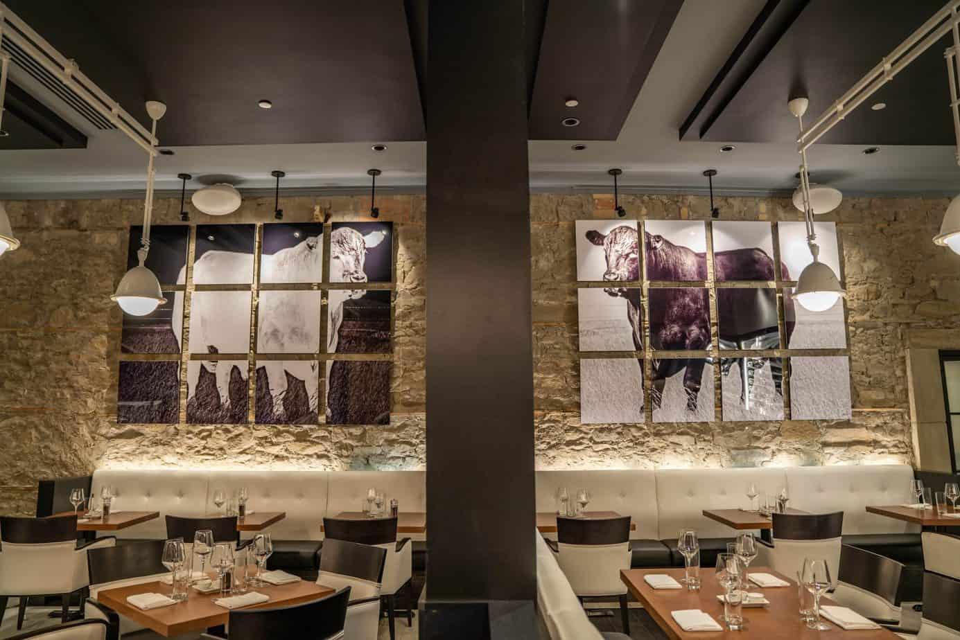 modern steak interior