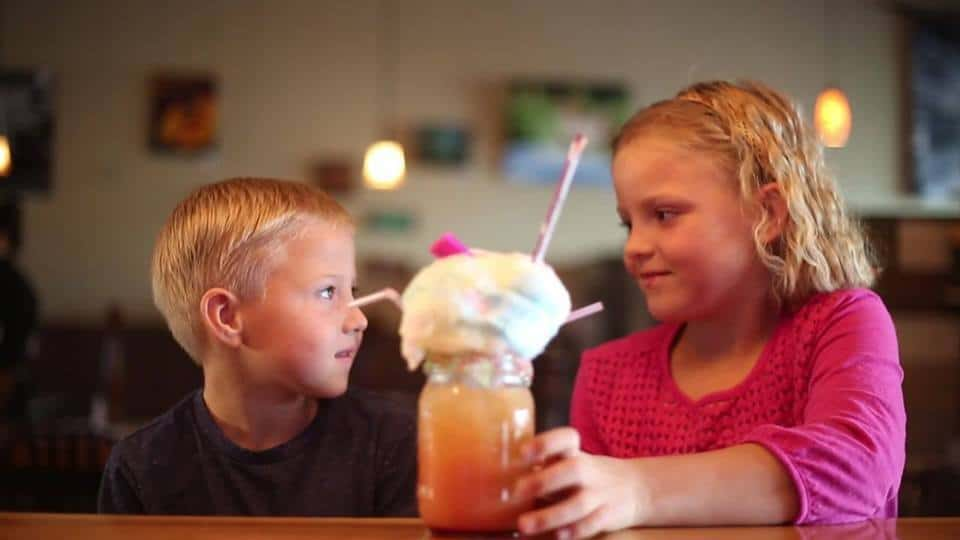 kids with fun drink