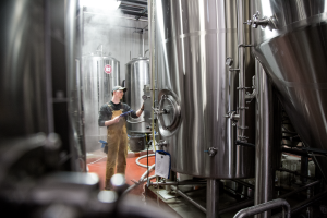 Brewer in brewery